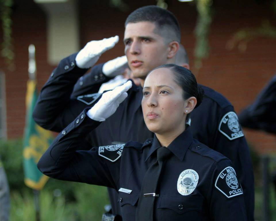 Officers Saluting