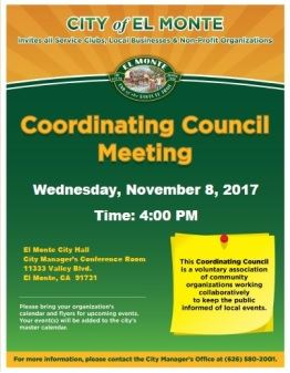 Nov 2017 Coordinating Council Meeting a