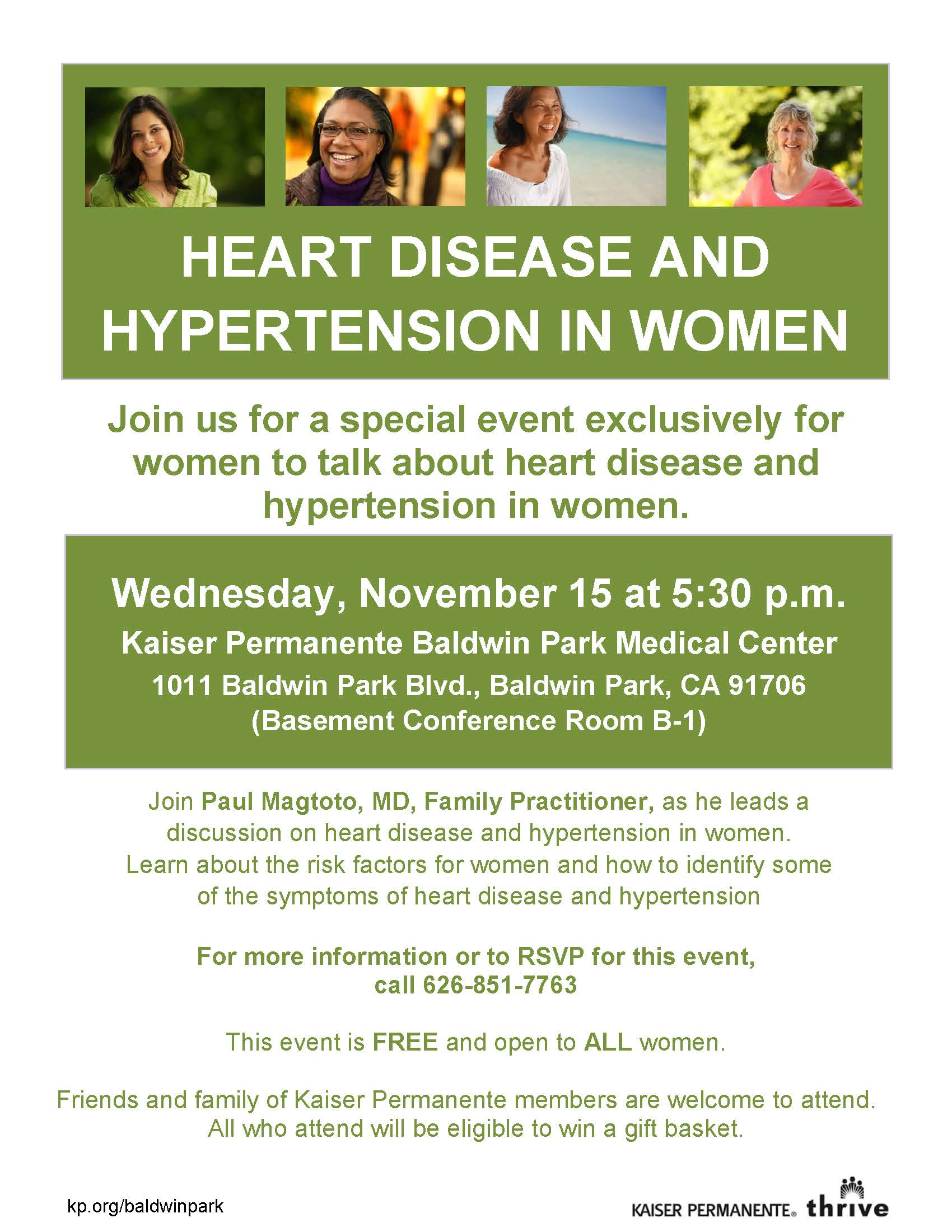 2017 Heart Disease  Hypertension in Women Flier